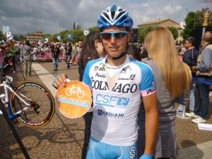 Sonny Colbrelli per #Salvaiciclisti durante Giroinseconda 2013